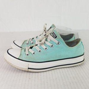 Converse All Star Womens Sz 7 Aqua Blue Sneakers